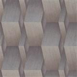 Vliesové tapety na stenu G.M.K. Fashion for walls 3D kocky hnedo-strieborné