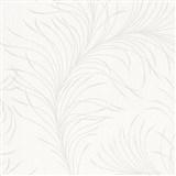 Vliesové tapety na stenu Felicita jemné listy krémové na svetlo sivom podklade
