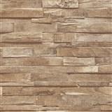Vliesové tapety na stenu IMPOL Finesse 3D drevo hnedé