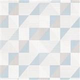 Vliesové tapety na stenu IMPOL Finesse trojuholníky modro-sivé