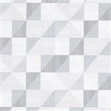 Vliesové tapety na stenu IMPOL Finesse trojuholníky sivé