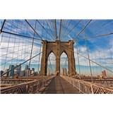 Vliesové fototapety Brooklyn Bridge rozmer 375 cm x 250 cm