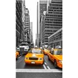Vliesové fototapety žlté taxíky rozmer 150 cm x 250 cm