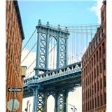 Vliesové fototapety Manhattan Bridge rozmer 225 cm x 250 cm