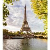 Vliesové fototapety Eiffelova veža rozmer 225 cm x 250 cm