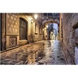 Vliesové fototapety starobylé ulice rozmer 375 cm x 250 cm