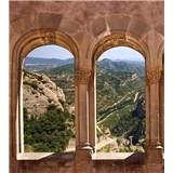 Vliesové fototapety oblúkové okná rozmer 225 cm x 250 cm
