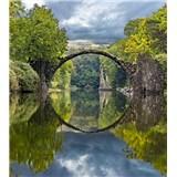Vliesové fototapety oblúkový most rozmer 225 cm x 250 cm