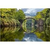 Vliesové fototapety oblúkový most rozmer 375 cm x 250 cm