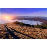 Vliesové fototapety svitanie v horách rozmer 375 cm x 250 cm