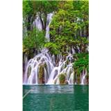 Vliesové fototapety Plitvické jazerá rozmer 150 cm x 250 cm