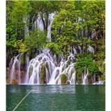 Vliesové fototapety Plitvické jazerá rozmer 225 cm x 250 cm