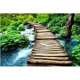 Vliesové fototapety most cez potok rozmer 375 cm x 250 cm