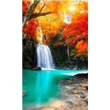 Vliesové fototapety lesný vodopád rozmer 150 cm x 250 cm