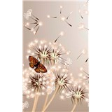 Vliesové fototapety púpavy a motýle rozmer 150 cm x 250 cm