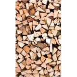 Vliesové fototapety drevené kláty rozmer 150 cm x 250 cm