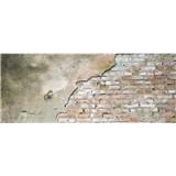 Vliesové fototapety tehlová stena s omietkou rozmer 375 cm x 150 cm