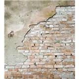 Vliesové fototapety tehlová stena s omietkou rozmer 225 cm x 250 cm