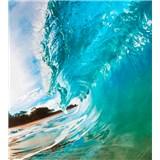 Vliesové fototapety vlny oceánu rozmer 225 cm x 250 cm