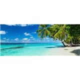 Vliesové fototapety rajská pláž rozmer 375 cm x 150 cm
