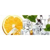 Vliesové fototapety citrón a ľad rozmer 375 cm x 150 cm