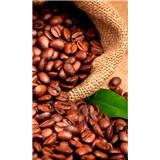 Vliesové fototapety kávové zrnká rozmer 150 cm x 250 cm