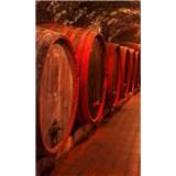 Vliesové fototapety sudy s vínom rozmer 150 cm x 250 cm