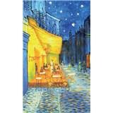 Vliesové fototapety terasa kaviarne v noci - Vincent Van Gogh rozmer 150 cm x 250 cm