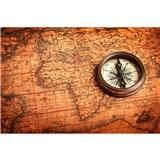 Vliesové fototapety kompas rozmer 375 cm x 250 cm