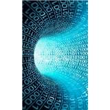 Vliesové fototapety binárny prúd rozmer 150 cm x 250 cm