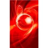 Vliesové fototapety abstrakt oranžový rozmer 150 cm x 250 cm