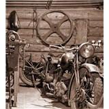Vliesové fototapety Vintage garáž rozmer 225 cm x 250 cm