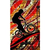 Vliesové fototapety bicycle red rozmer 150 cm x 250 cm