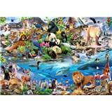 Vliesové fototapety galéria zvieratiek rozmer 368 cm x 254 cm
