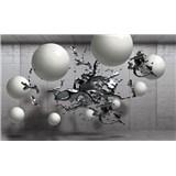 Vliesové fototapety 3D guľe, rozmer 104 cm x 70,5 cm