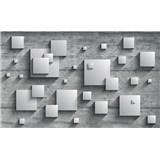 Vliesové fototapety 3D štvorce, rozmer 152,5 cm x 104 cm
