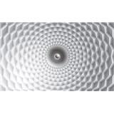 Vliesové fototapety 3D abstrakcie sivo-biela rozmer 152,5 cm x 104 cm