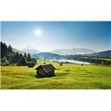 Vliesové fototapety Hefele horská lúka, rozmer 450 cm x 280 cm