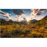 Vliesové fototapety Hefele jesenné Nórsko, rozmer 450 cm x 280 cm