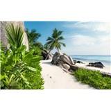 Vliesové fototapety Hefele cestička na pláž, rozmer 450 cm x 280 cm