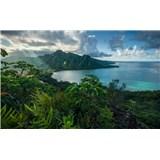 Vliesové fototapety Hefele Jurský ostrov, rozmer 450 cm x 280 cm