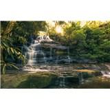 Vliesové fototapety Hefele zlaté vodopády, rozmer 450 cm x 280 cm
