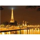 Fototapeta Eiffelova veža v noci, rozmer 254 x 184 cm
