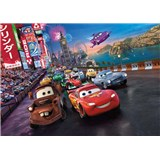 Fototapeta Disney Cars Mc Queen a Burák race