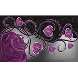 Fototapety fialová ruža so srdiečkami, rozmer 368 cm x 254 cm