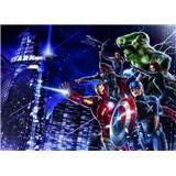 Fototapeta Avengers mesto v noci