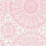 Samolepiace tapety čipka ružová 45 cm x 15 m