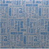Samolepiace tapety text modrý 45 cm x 15 m