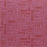Samolepiace tapety text ružový 45 cm x 15 m