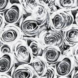 Samolepiace tapety ruže sivé 45 cm x 15 m